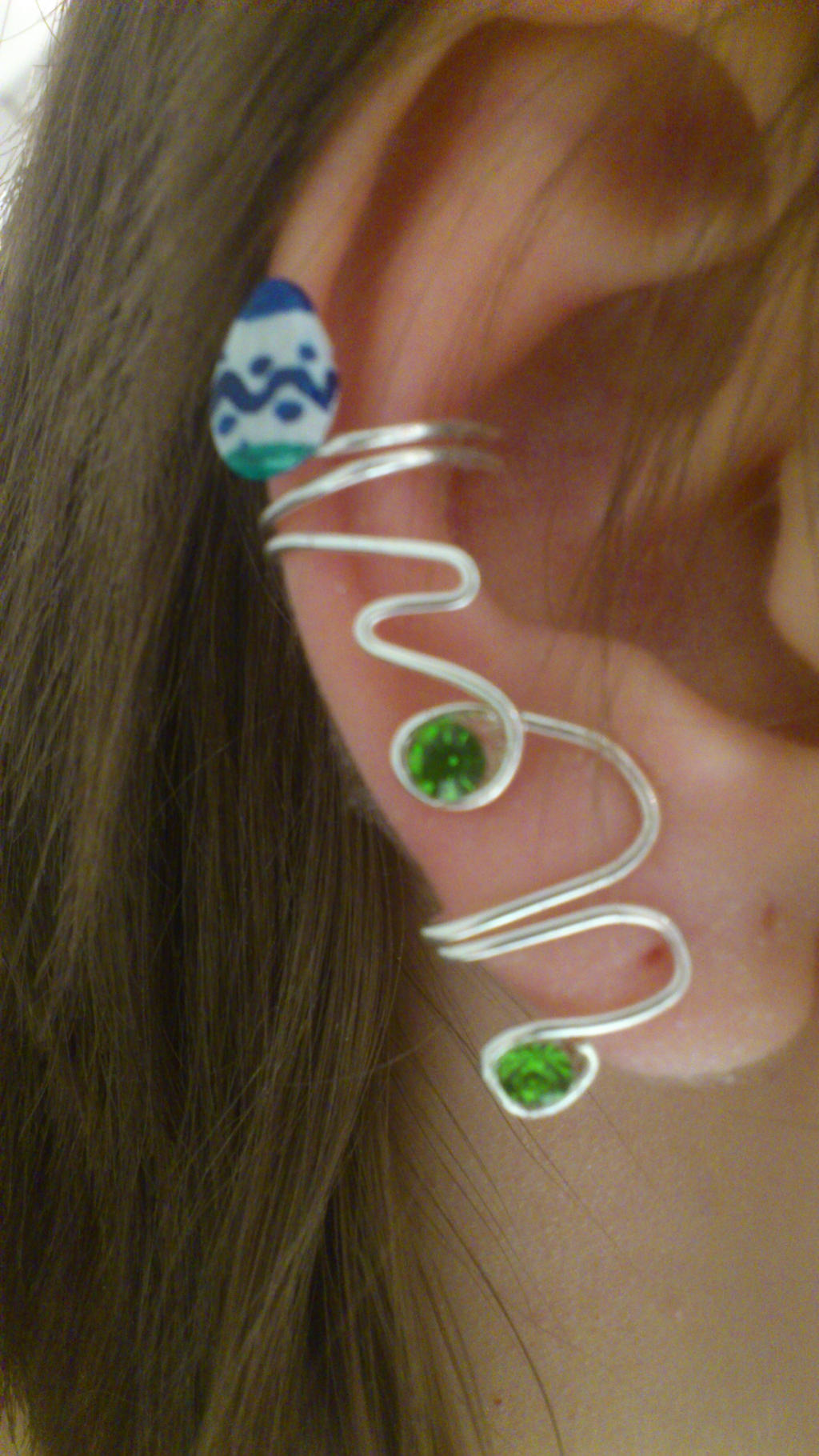 Easterbunny inspired Ear Cuff by 77Flower77
