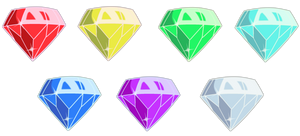 Chaos Emeralds by TheLeoNamedGeo