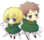 SNK Jean and Armin chibi render~