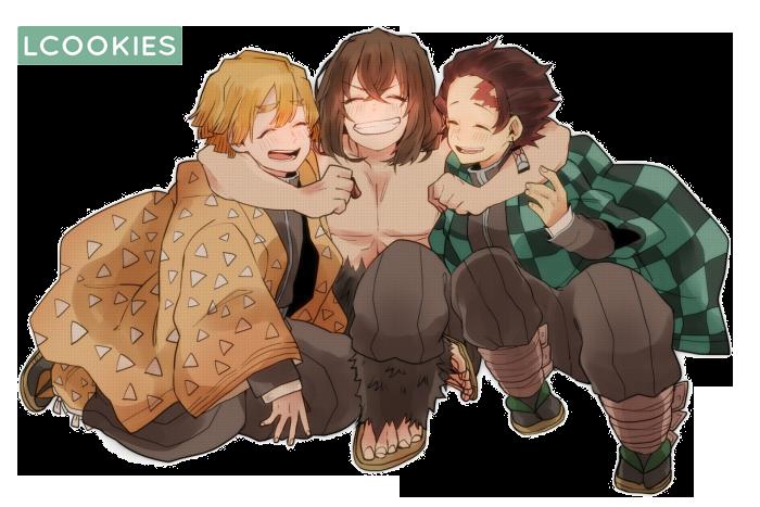 kimetsu no yaiba trio render