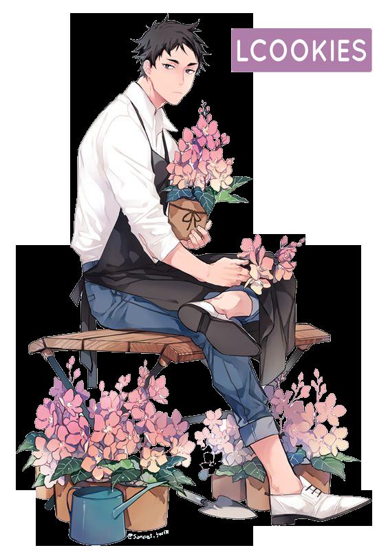 (Requested) Florist Akaashi Keiji Render