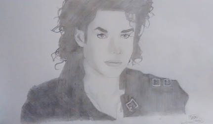 Retrato de Michael Jackson by Spitfire95