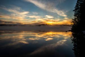Misty sunrise II by mabuli