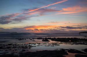 Sunset beach by mabuli