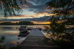 Sunset dock by mabuli