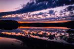 Sunset clouds by mabuli