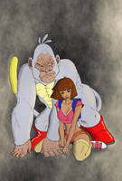Dora and King Kong by stargate525