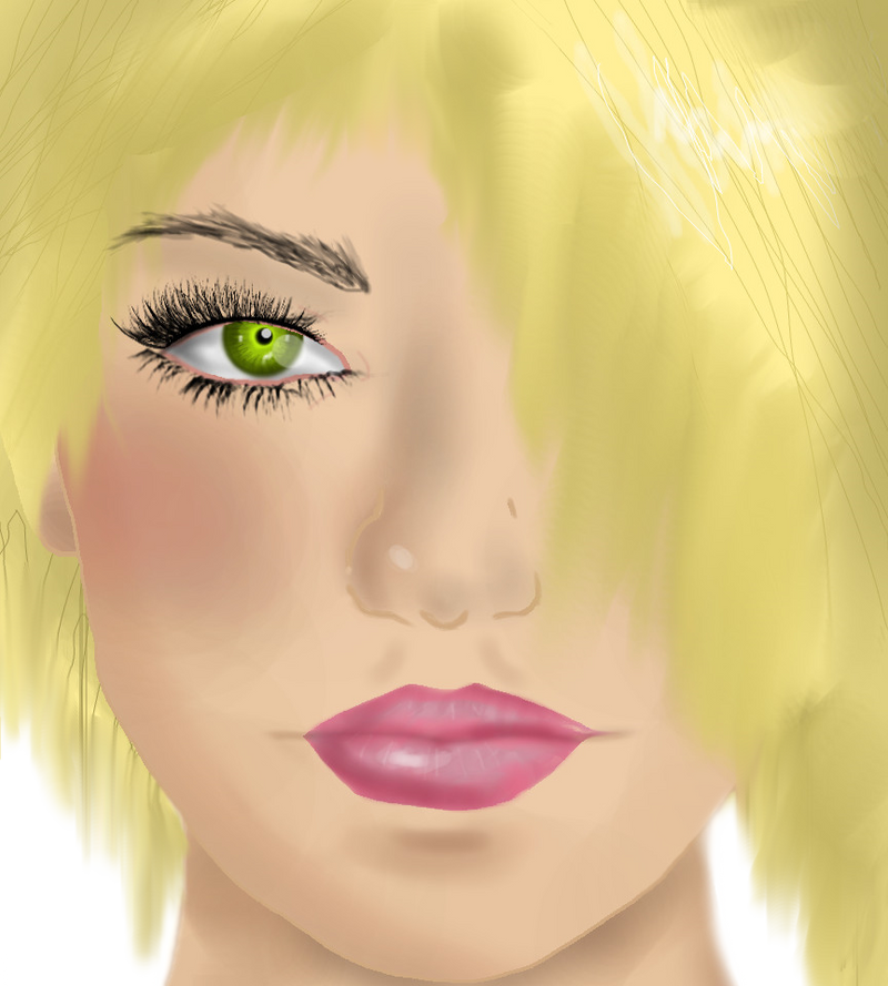 My first ever realistic face attempt by TheLastLupa
