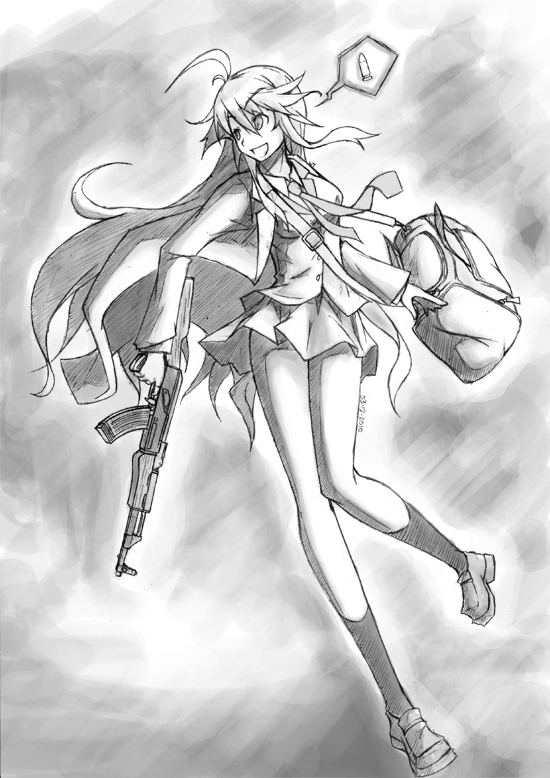 Elise and AK47 2 by williamtio