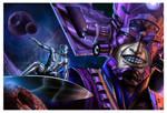Galactus and Silver Surfer by pakosantana