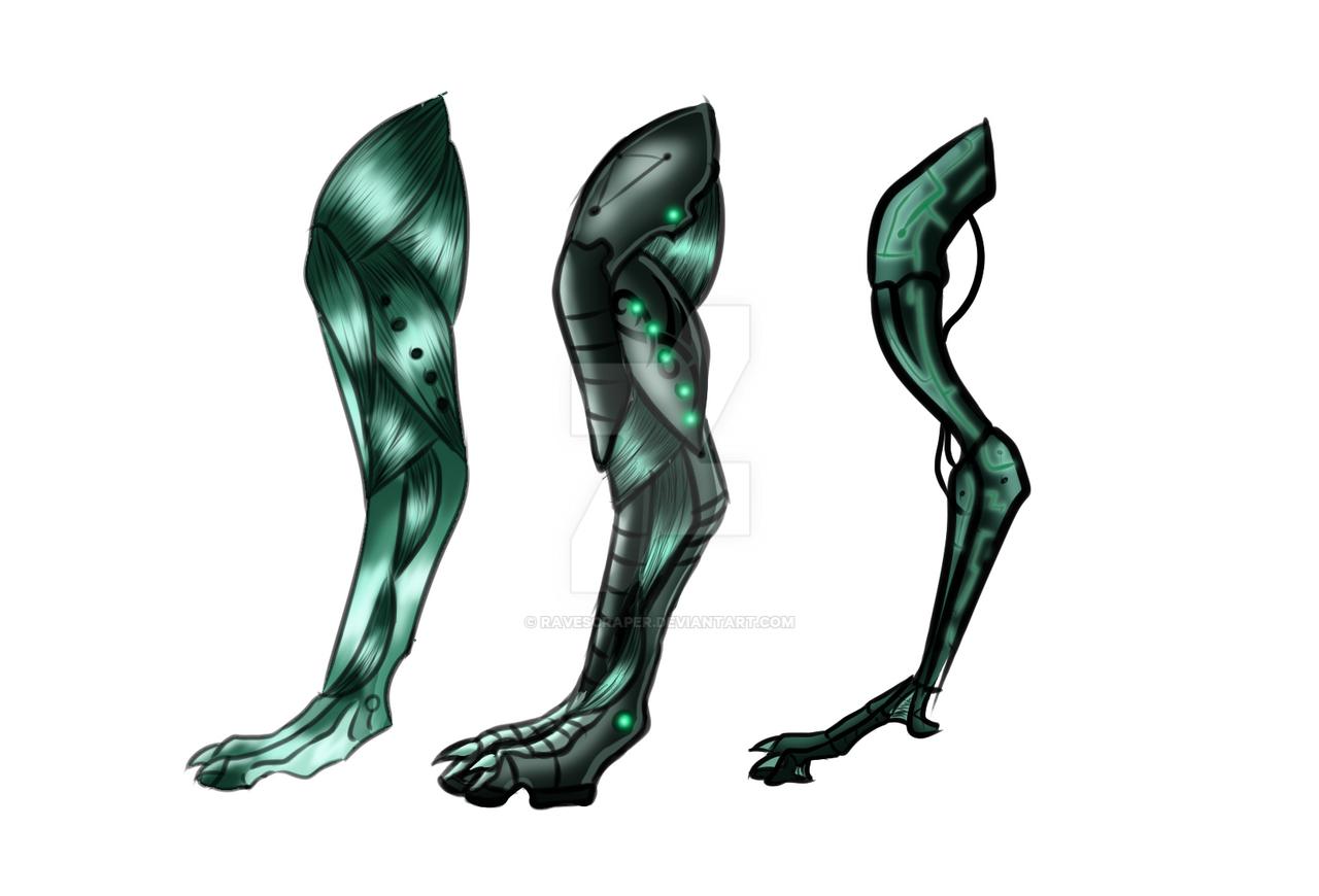 robot wolf leg design by ravescraper on deviantart