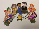 Phineas and Ferb and Friends (digitally colored)