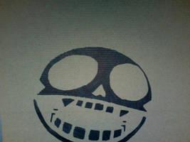 Gorillaz Skull Stencil by roninmakeswaffles