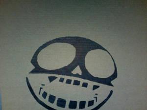 Gorillaz Skull Stencil