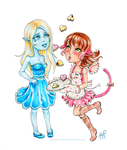 Commission: Sue and Caffy by AurionPride