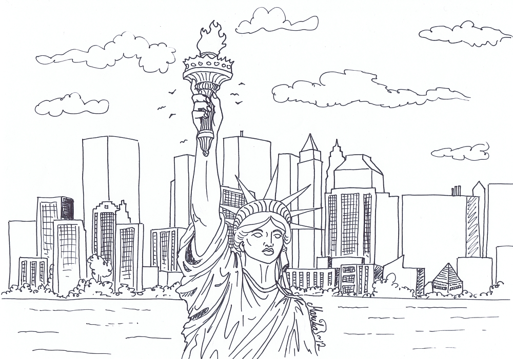Colouring New York by YikYik on DeviantArt