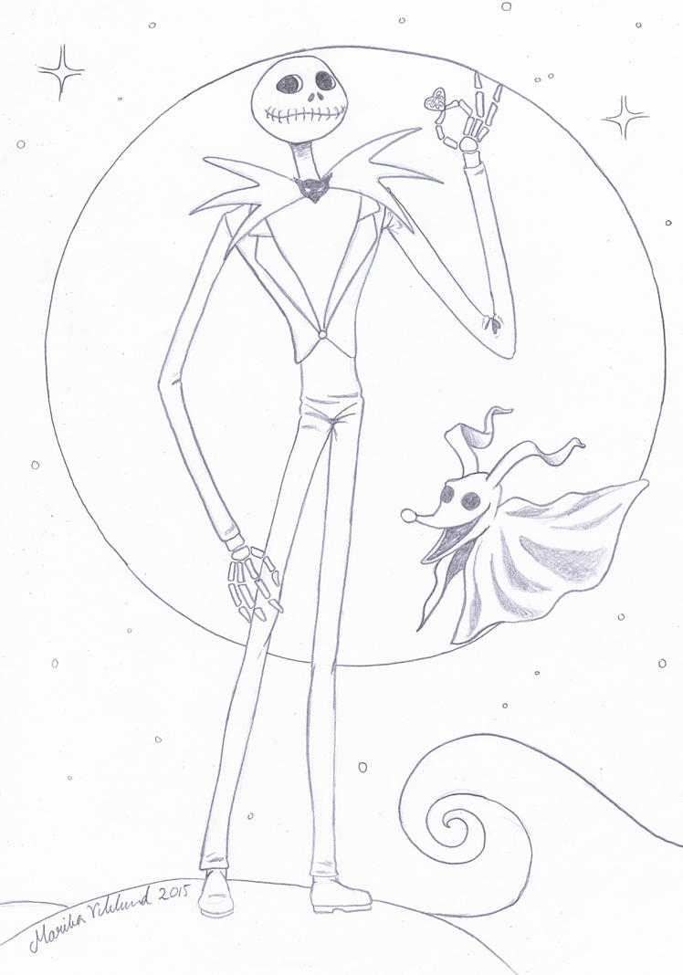 jack skellington coloring page - colouring jack skellington by yikyik on deviantart