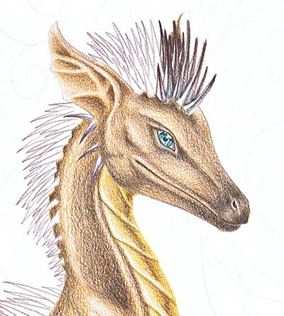 Daily Sketch 16 VIP4 - Hedge Dragon Head by YikYik