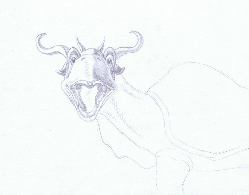 Daily Sketch 26 - Dragtoise by YikYik