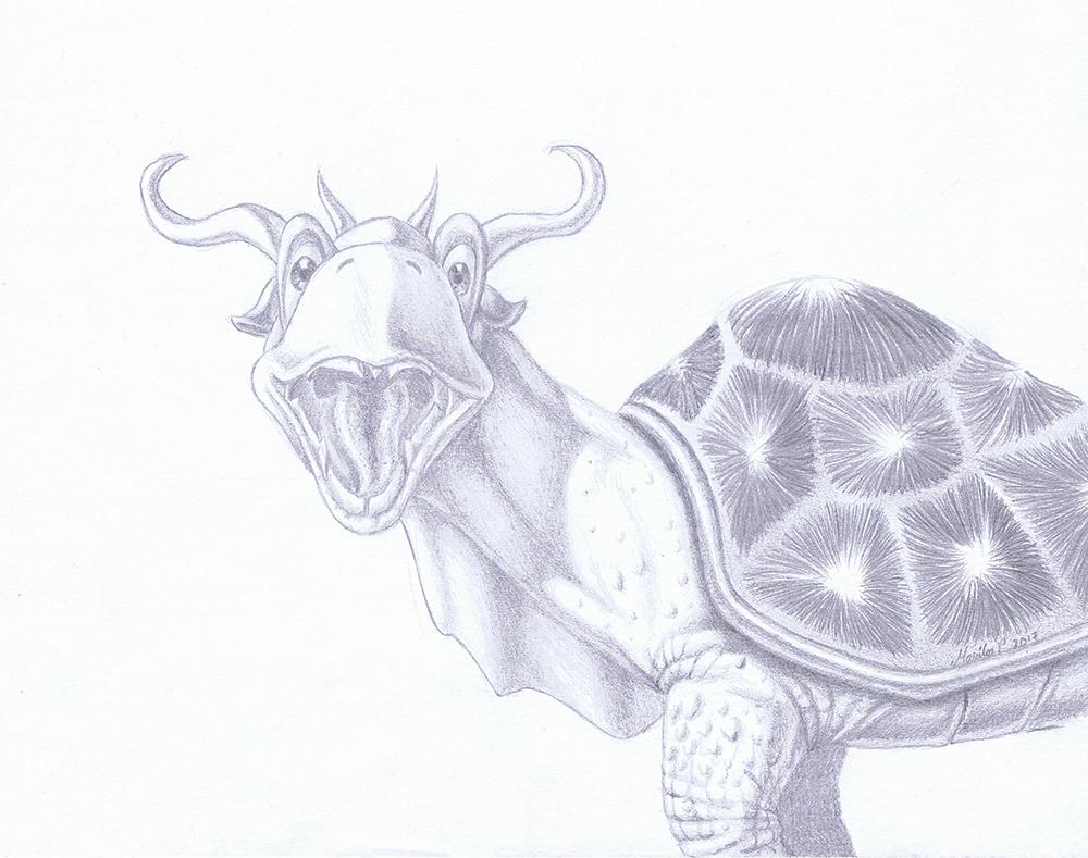 Daily Sketch 26 - Dragtoise 3 by YikYik