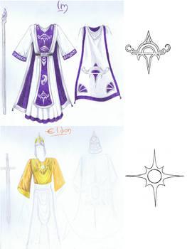 Im and Eldon - Costume sketches