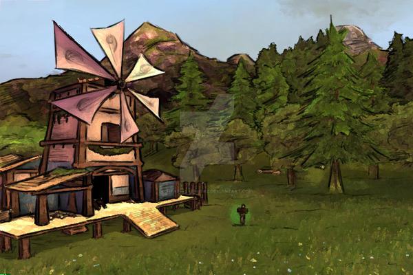 Lumber mill at day by TifaFinsterherz