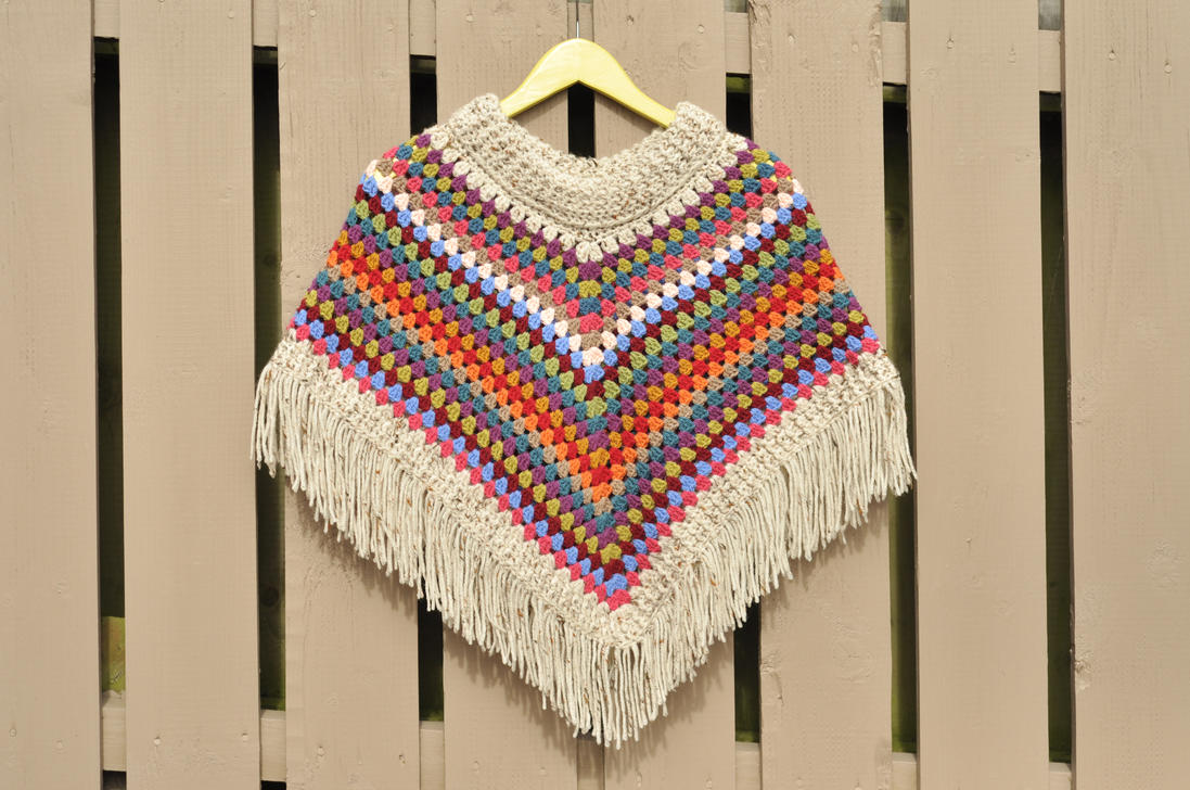 Simply Crochet Poncho by xeogx