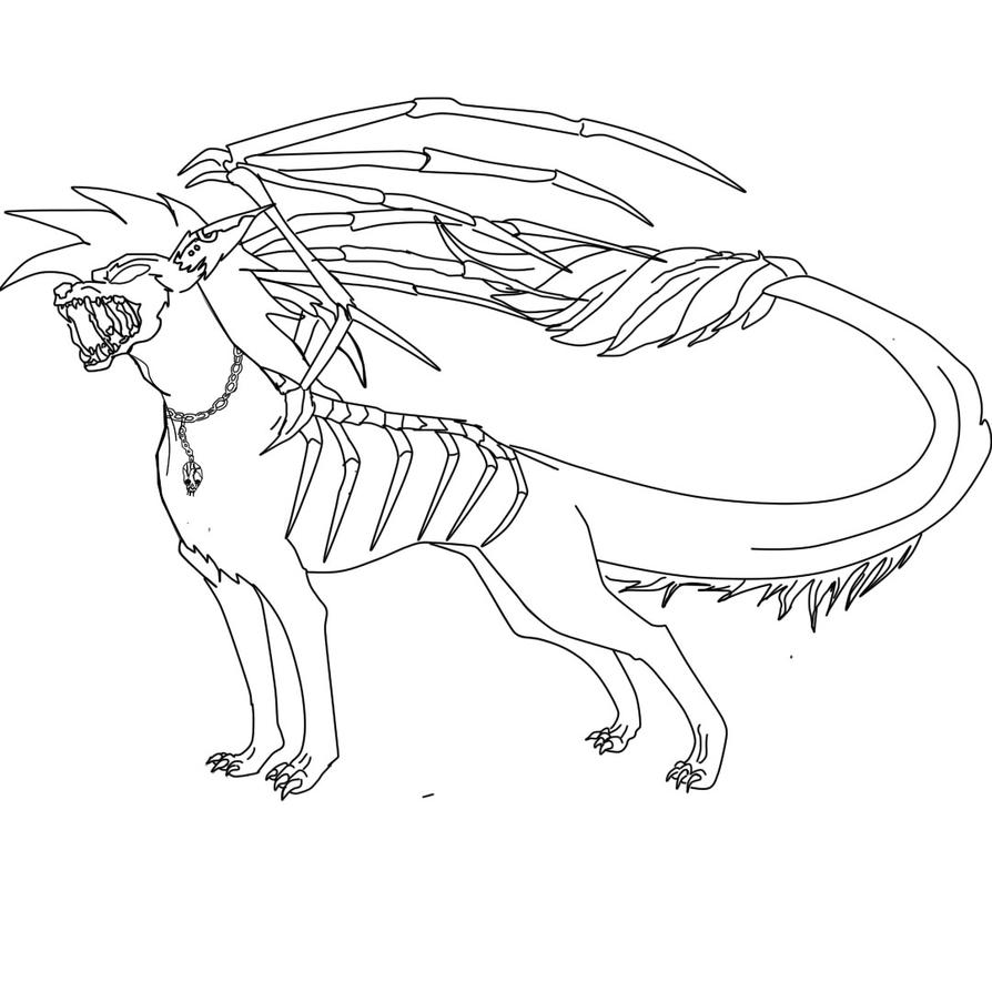 demon dragon coloring pages - photo#17