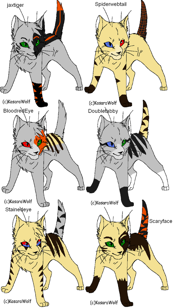 Warrior cat adoptables 25-OPEN by Shadowpaw909