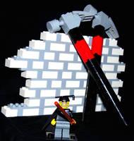 Pink Floyd The LEGO Brick Wall by VonBrunk