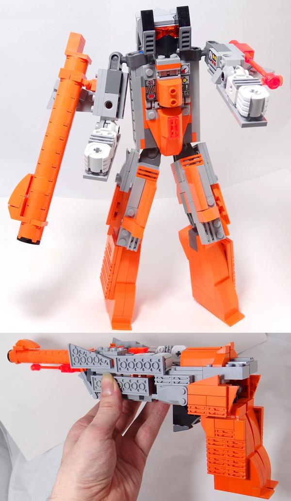 Plasmashock -- NES Zapper + Transformers + LEGO by VonBrunk