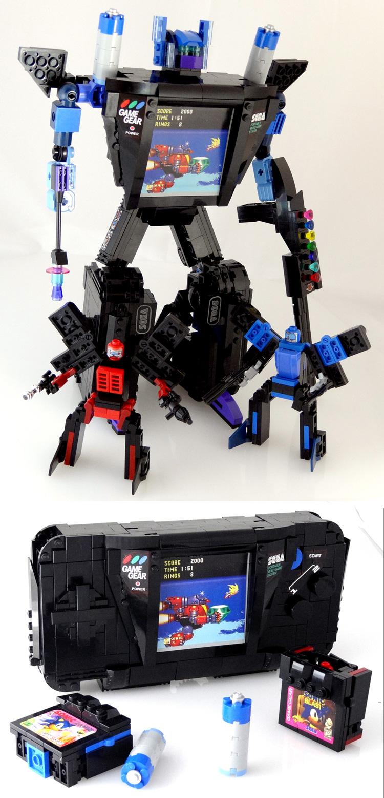 Gearhead - SEGA Game Gear Transformer of LEGO by VonBrunk