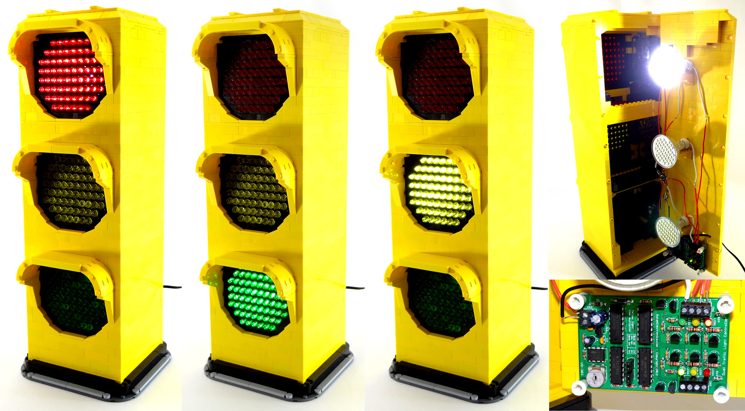 ... Fully Functional LEGO Traffic Signal Lamp By VonBrunk
