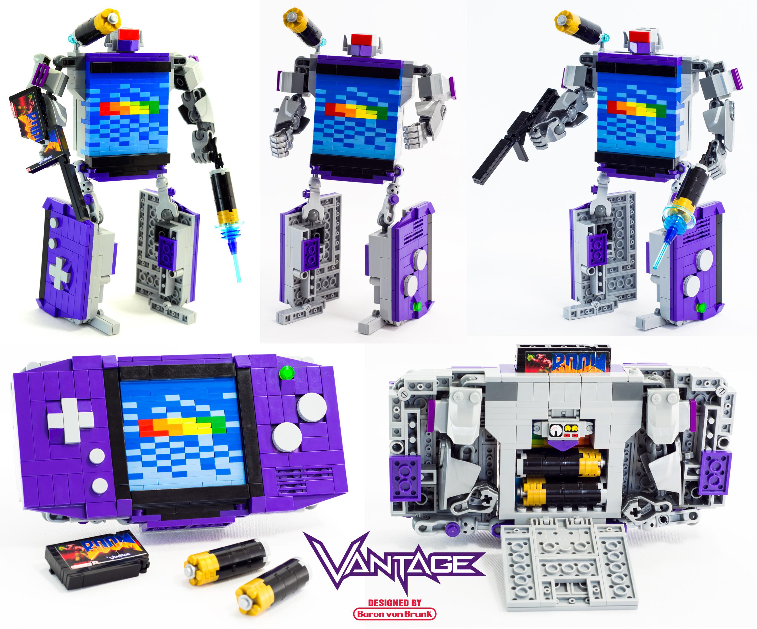 Vantage - LEGO Game Boy Advance Transformer by VonBrunk