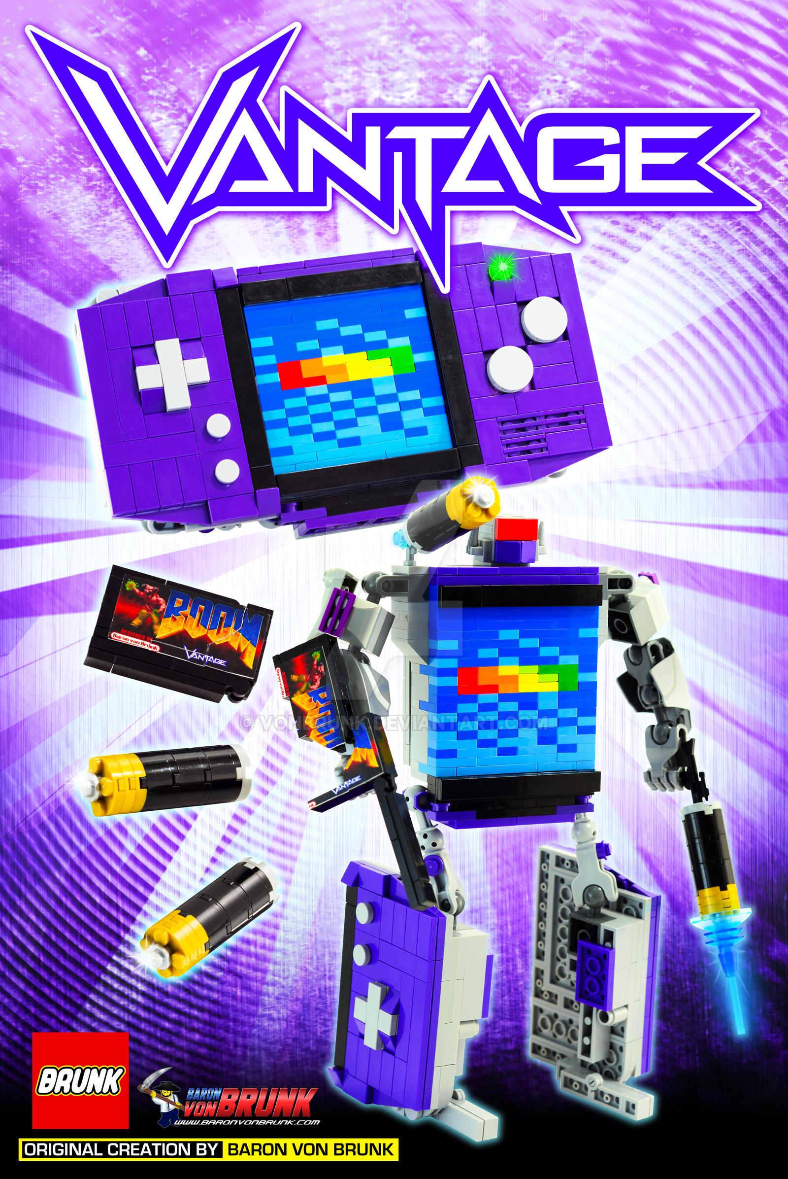 Vantage - LEGO Game Boy Advance Transformer Print by VonBrunk