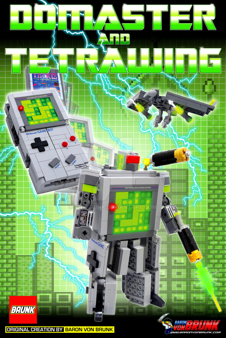 Domaster - LEGO Game Boy Transformer Print by VonBrunk