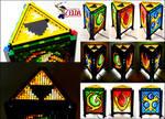 Mosaic LEGO Legend of Zelda Spiritual Stone Lamp