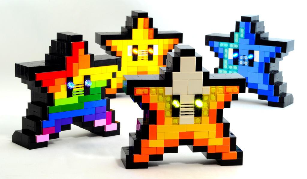 Electronic LEGO Super Mario Invincibility Starmen by VonBrunk