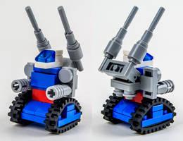 Micro-Scale RX-75 Guntank by VonBrunk
