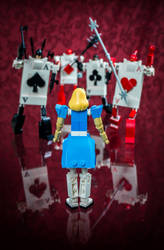 Alice vs. The Cards by VonBrunk