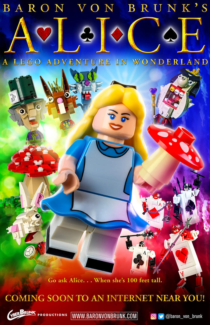Alice: A LEGO Adventure in Wonderland Poster by VonBrunk