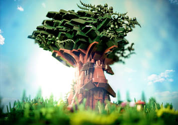 LEGO Great Deku Tree by VonBrunk
