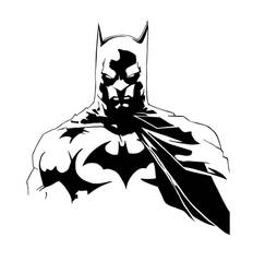Batman Black And White by LarsEliasNielsen