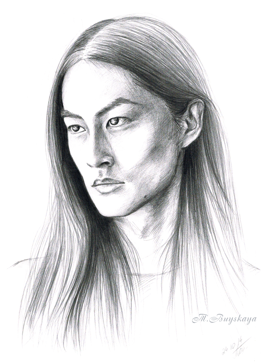 It is a photo of Soft Asian Face Drawing