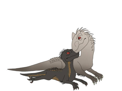 Indominus Rex and Indoraptor