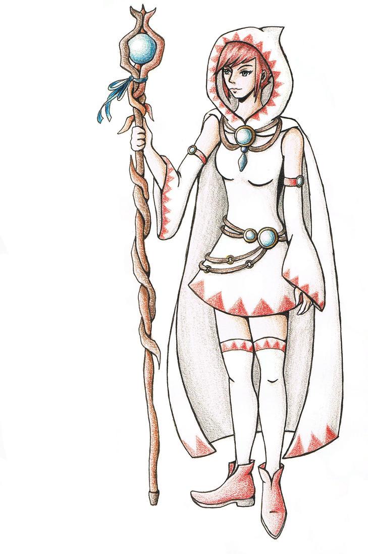 White mage final fantasy by reniacz on deviantart