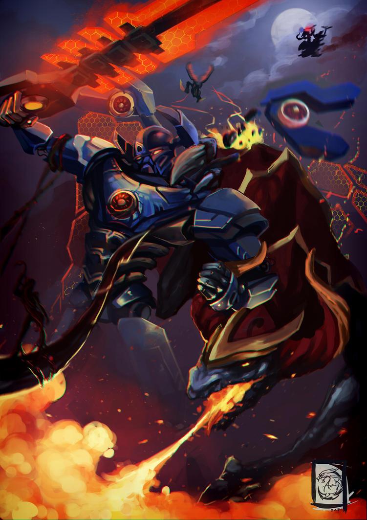 Mecha vs monster League of legends by Ariss18