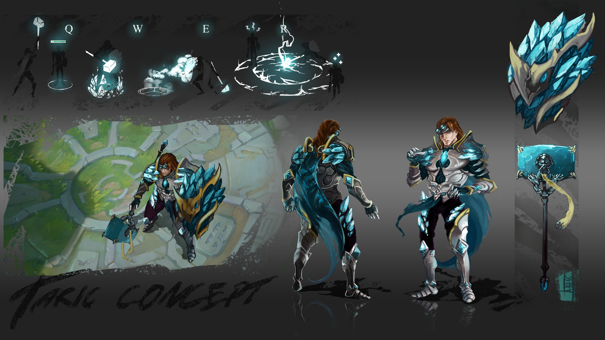 League of Legends: Taric visual update concept by Ariss18