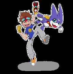 Digimon Xross-Wars Hunters 02 Tagiru Akashi design