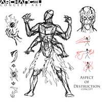 Archangel - Aspect of Destruction Sketch by HeavyBenny
